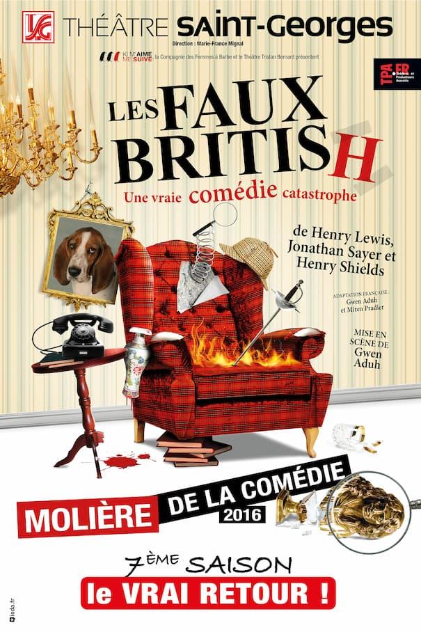 """Affiche de la pièce """"Les Faux British"""" saison 7"""