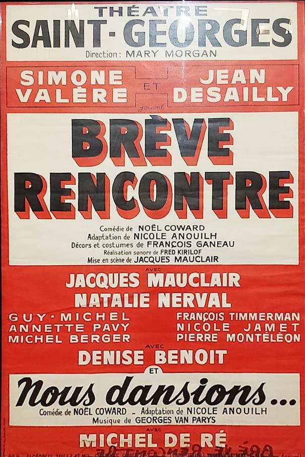 """Affiche de la pièce """"Brève rencontre"""""""