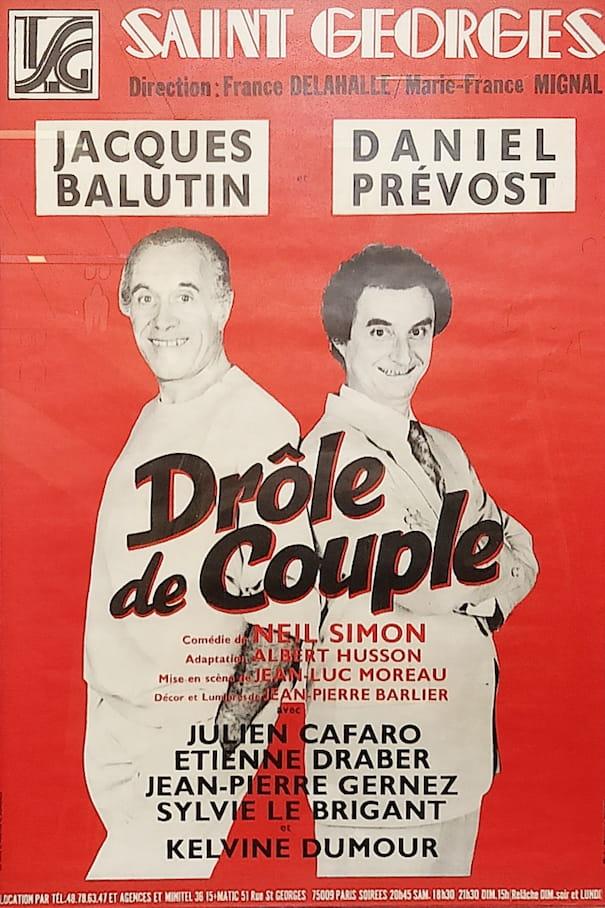 """Affiche de la pièce """"Drôle de Couple"""""""