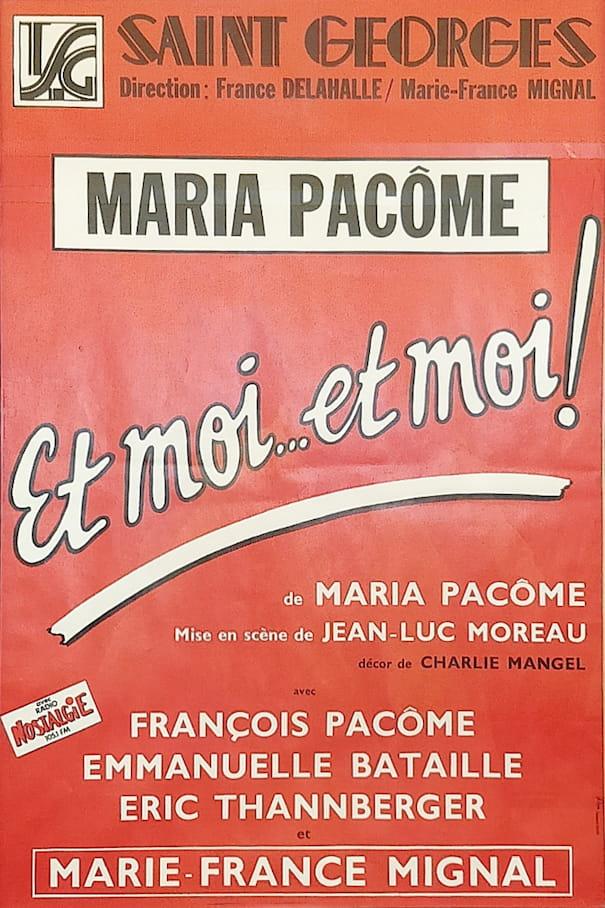"""Affiche de la pièce """"Et moi… et moi!"""""""