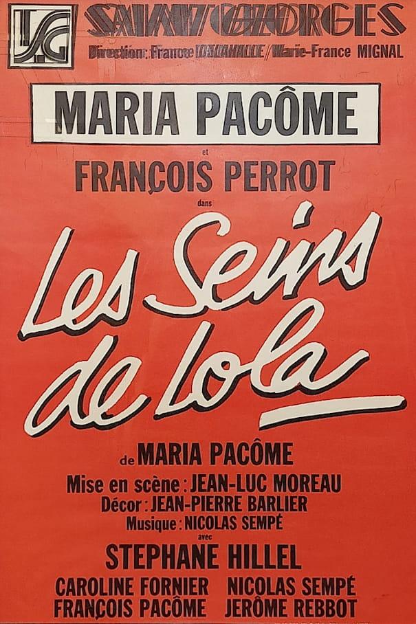 """Affiche de la pièce """"Les seins de Lola"""""""