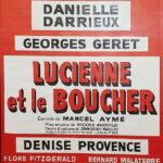 """Affiche de la pièce """"Lucienne et le boucher"""""""
