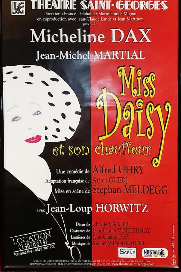 """Affiche de la pièce """"Miss Daisy et son chauffeur"""""""