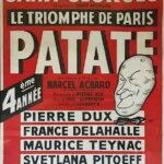 """Affiche de la pièce """"Patate"""""""
