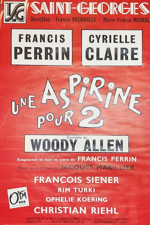 """Affiche de la pièce """"Une aspirine pour 2"""""""